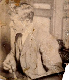 Dawson Dawson-Watson Painting in Chair Designed and Crafted in 1861 by John Dawson Watson pixel sized